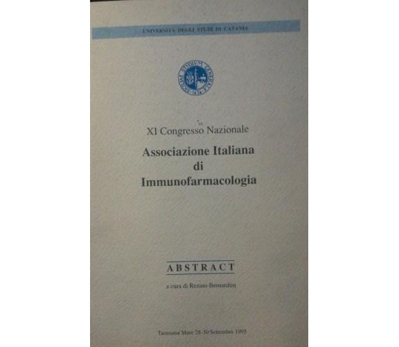 XI Congresso Nazionale - Associazione Italiana di Immufarmacologia di Bernardin