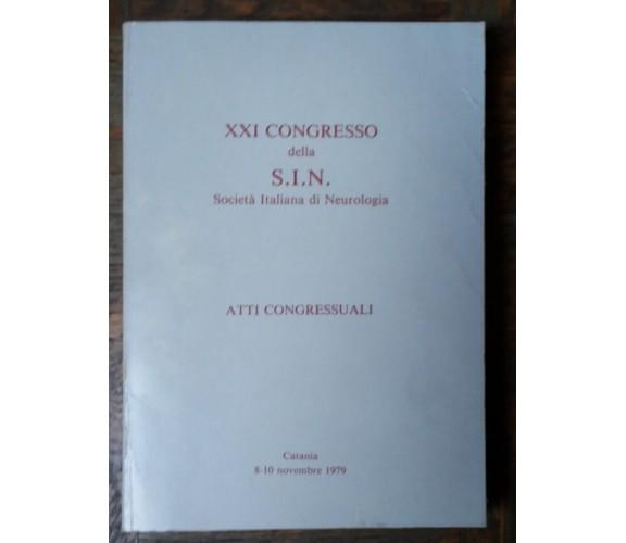 XXI Congresso della S.I.N.-AA.VV.- LaboratoriRicercaFidiaFramaceutici,1979 -R