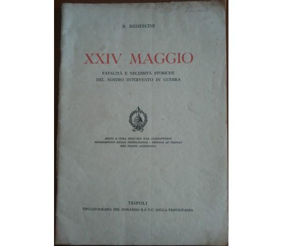 XXIV Maggio - B. Mendicini - Tripoli,1933 - A