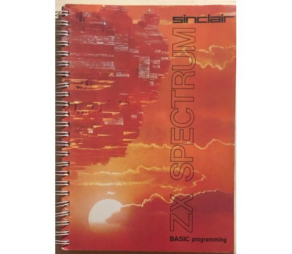 ZX Spectrum Basic programming di Steven Vickers, 1983, Sinclair