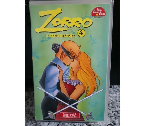 Zorro  il bacio di Lolita 4-  vhs  - Bim Bum Bam - 1993 -F